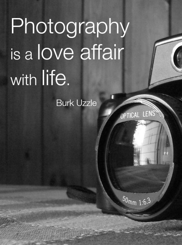 Photography is a love affair with life Picture Quote #1