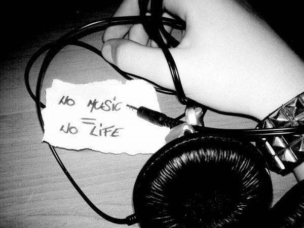 No music equals no life Picture Quote #1