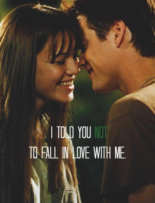 I told you not to fall in love with me Picture Quote #1