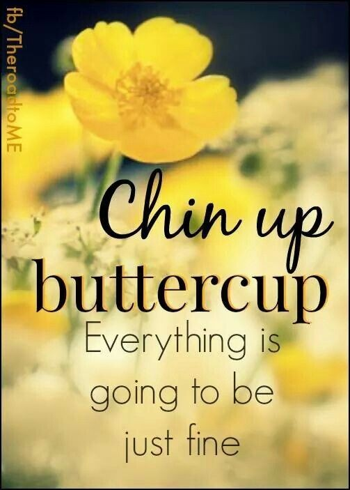 Chin Up Buttercup Quote 2 Picture Quote #1