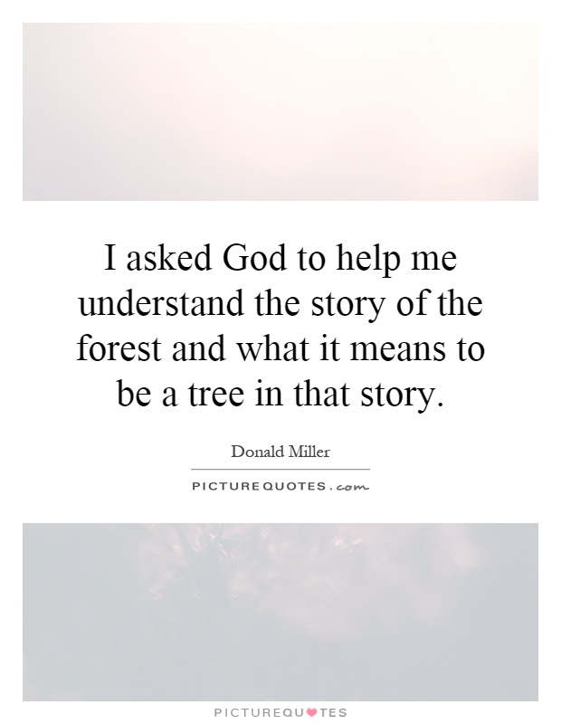What a tree means to me