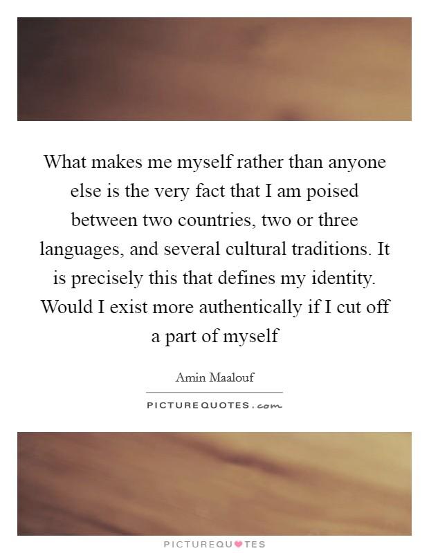 on identity amin maalouf