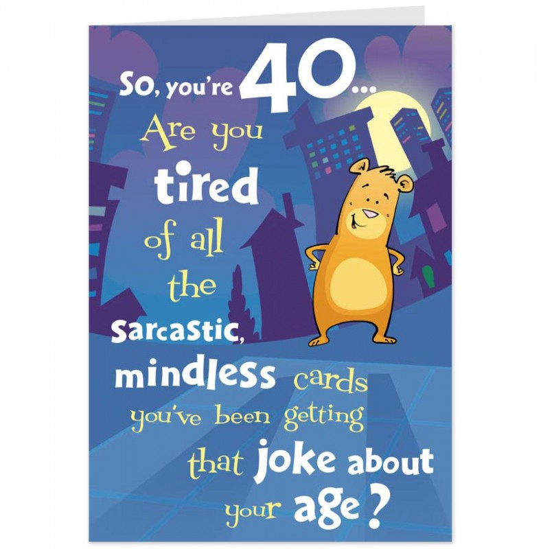 Funny 40th Birthday Quote   Quote Number 758370   Picture Quotes