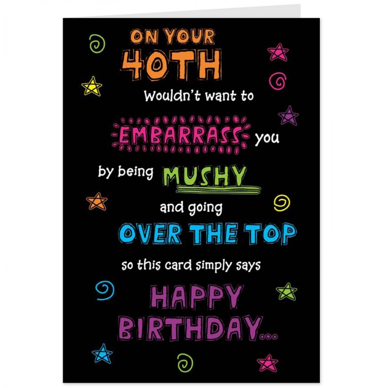 Funny 40th Birthday Quote | Quote Number 758380 | Picture Quotes