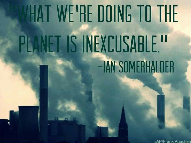 Pollution Quote 1 Picture Quote #1