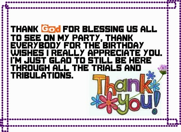 Thank You Birthday Quote 1 Picture Quote #1