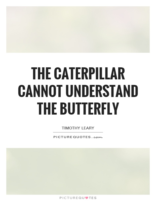 The Caterpillar cannot understand the butterfly Picture Quote #1