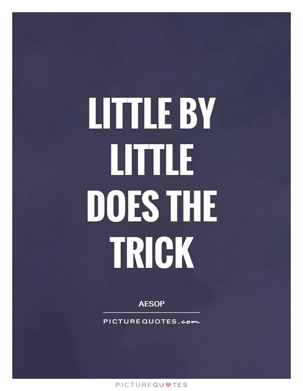 Little by little does the trick Picture Quote #1