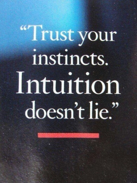 Gut Instinct Quote 1 Picture Quote #1
