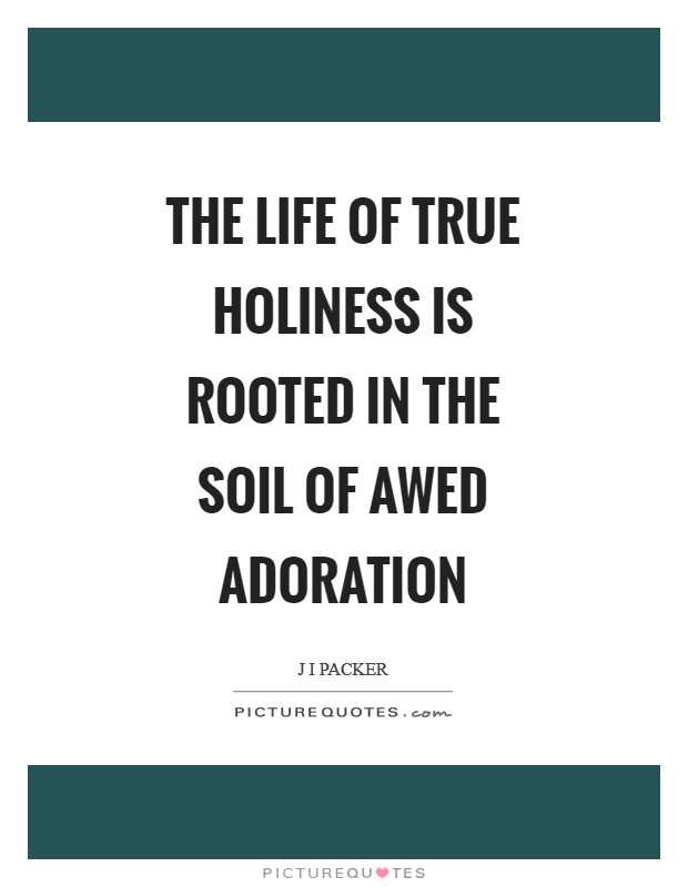 The Life of true holiness is rooted in the soil of awed adoration Picture Quote #1