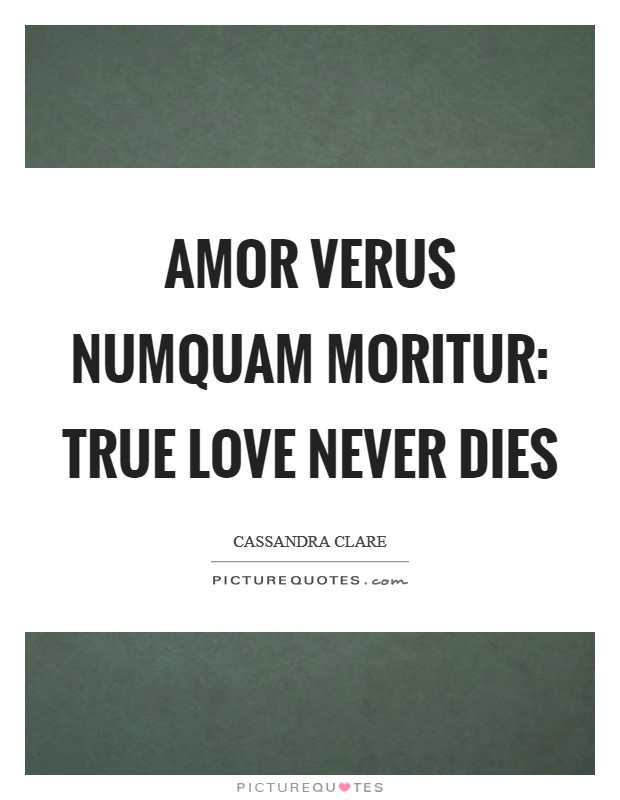 Amor verus numquam moritur: True love never dies Picture Quote #1