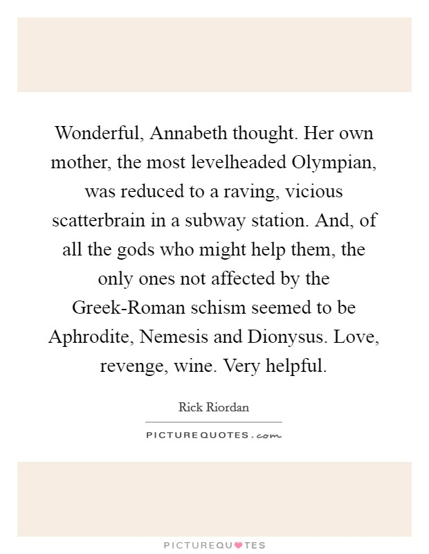 Wonderful Annabeth Thought Her Own Mother The Most