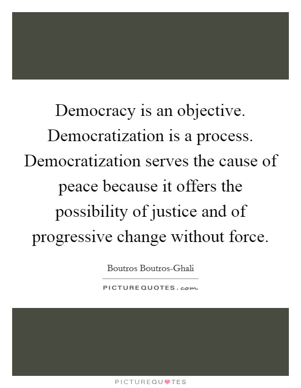 the process of democratization There seem to have appeared two routes to advance the democratization process: either to start with the intra-party democracy and then to expand democracy to the state politics, or to start from the grassroots and then spillover to the provincial and national level political institutions.