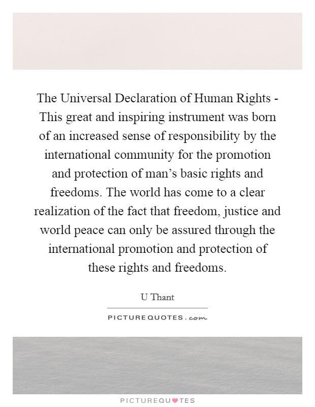 a history of the international declaration of human rights and freedom History of international women's activism and human rights by analyzing  about  the rights of women influenced udhr drafters' views about human rights in ways   postwar order founded on fundamental freedoms and human dignity.