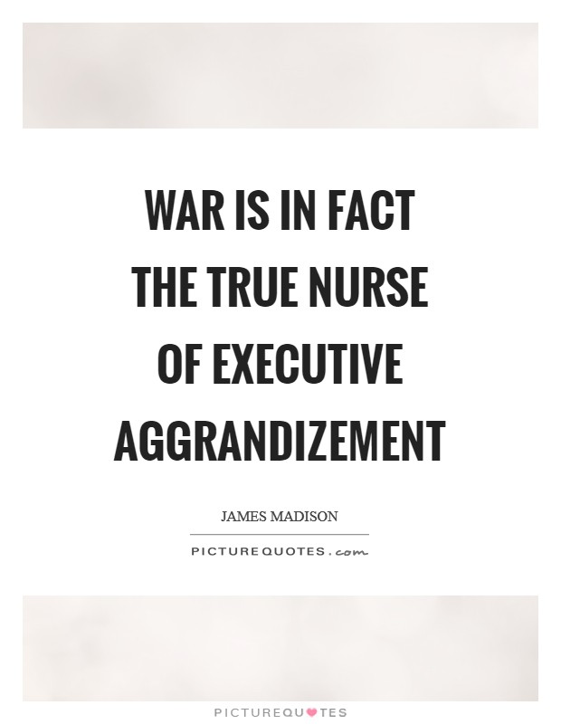 War is in fact the true nurse of executive aggrandizement Picture Quote #1