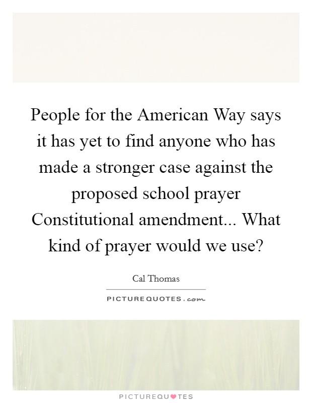 The Case Against School Prayer