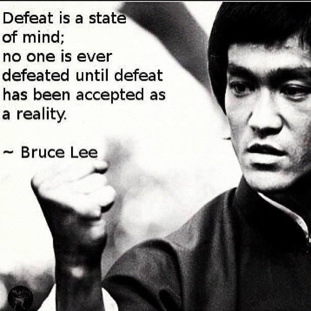 Defeat is a state of mind; no one is ever defeated until defeat has been accepted as a reality Picture Quote #1