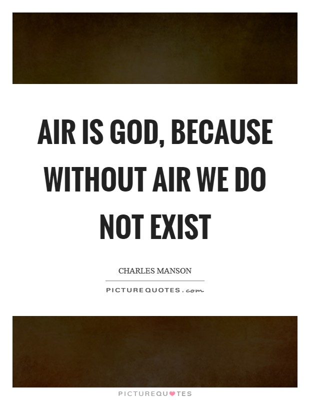 Air is God, because without air we do not exist Picture Quote #1