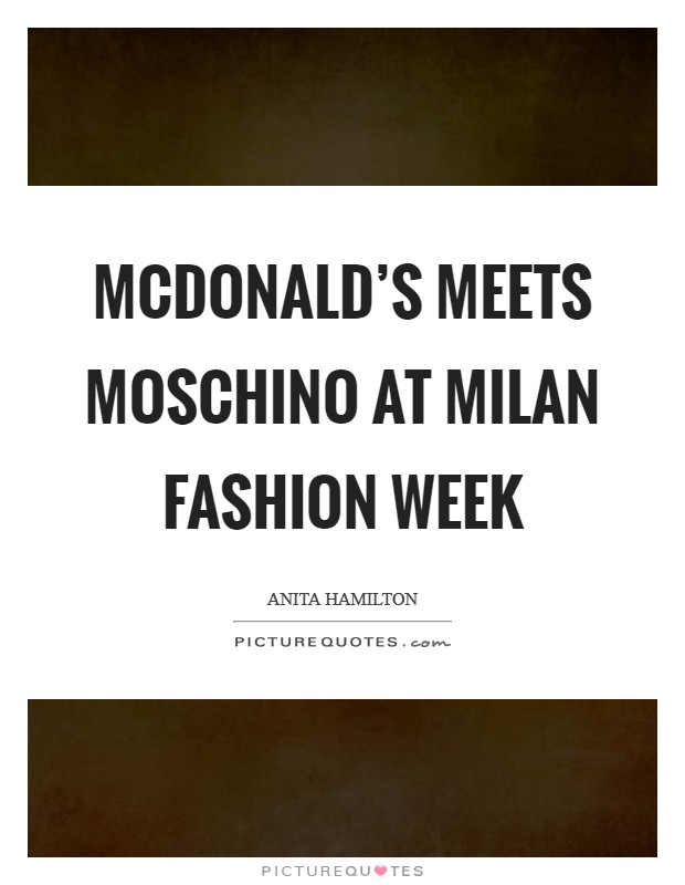 Milan Fashion Week Quotes