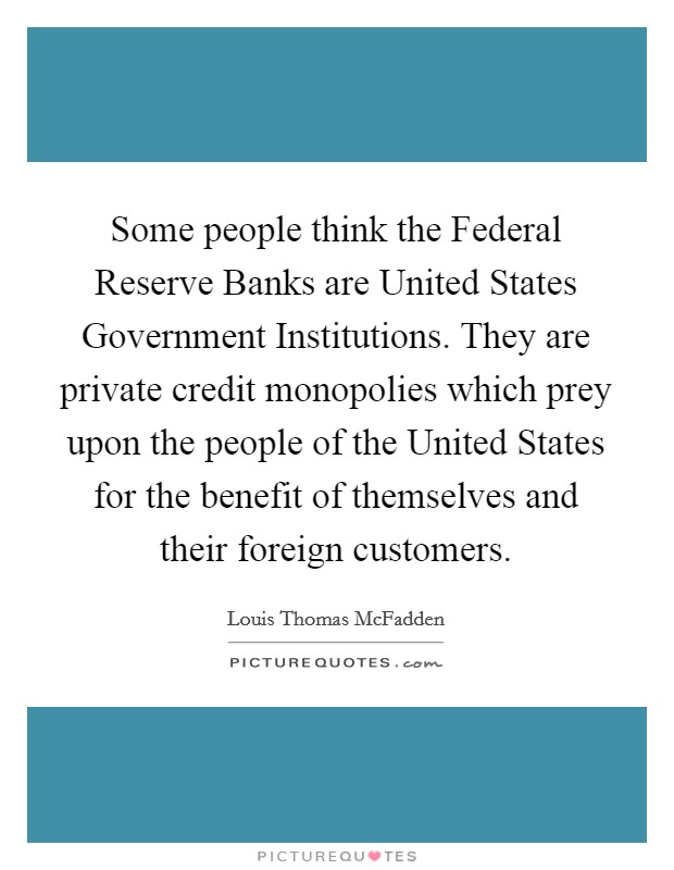 Some people think the Federal Reserve Banks are United