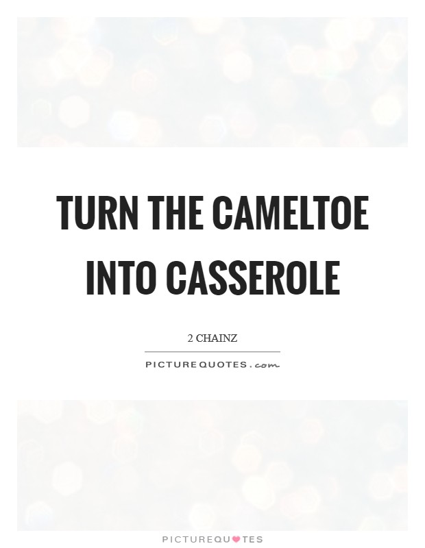 Turn the cameltoe into casserole Picture Quote #1