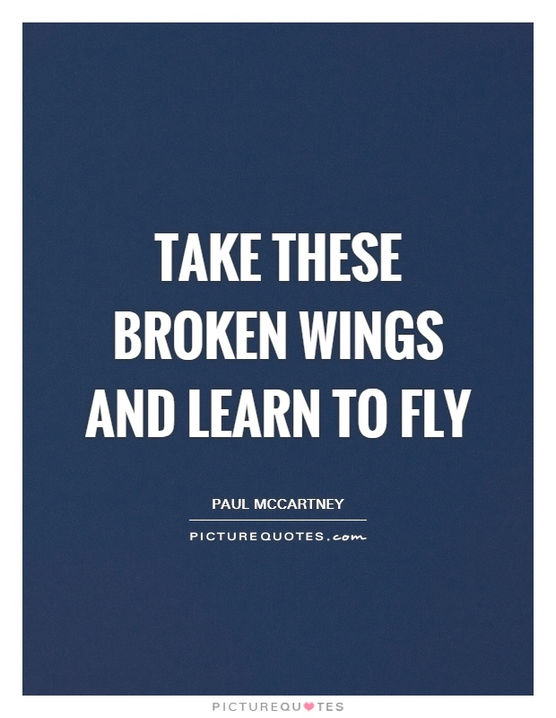 take these broken wings