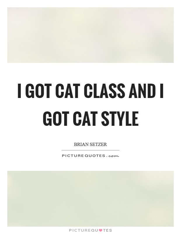 I got cat class and I got cat style Picture Quote #1