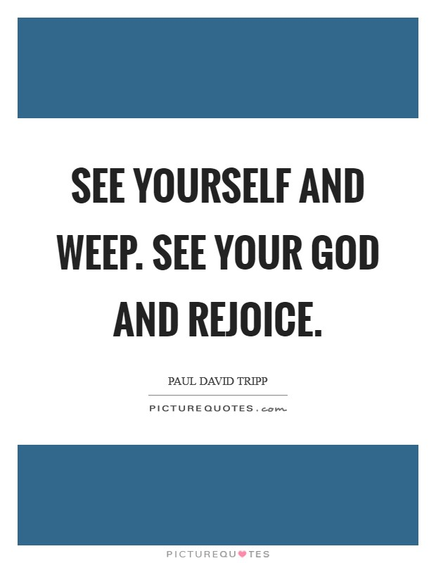 See yourself and weep. See your God and rejoice Picture Quote #1