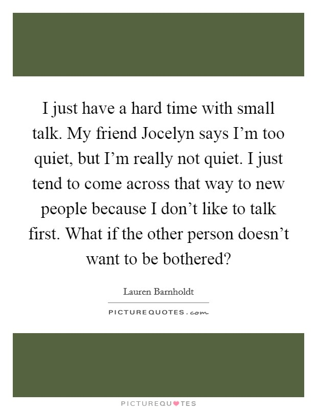Small Talk Quotes | Small Talk Sayings | Small Talk Picture