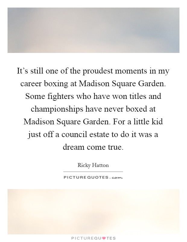 Madison Square Garden Quotes Sayings Madison Square