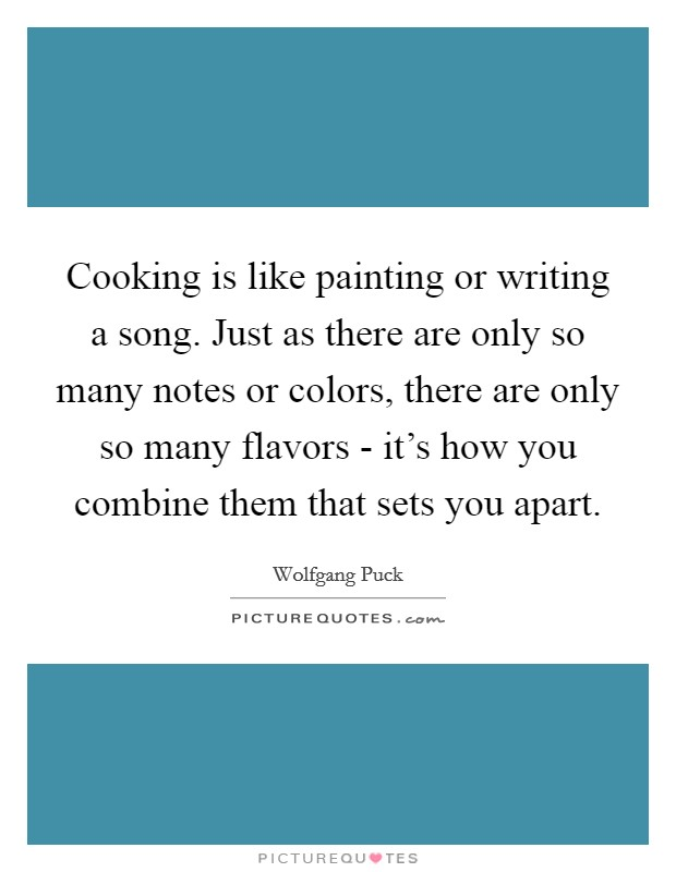writing is like cooking