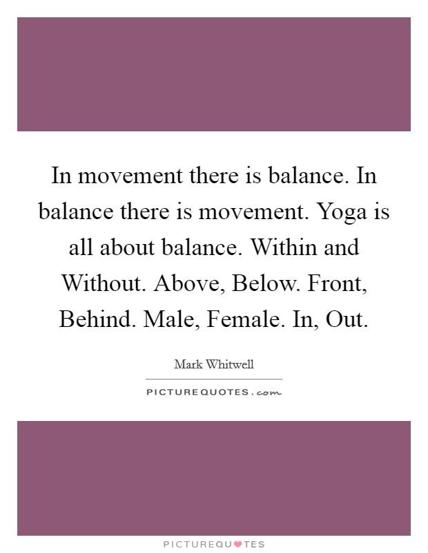 Balance And Yoga Quotes
