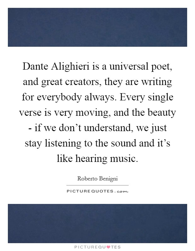 an understanding of dante alighieris poetry
