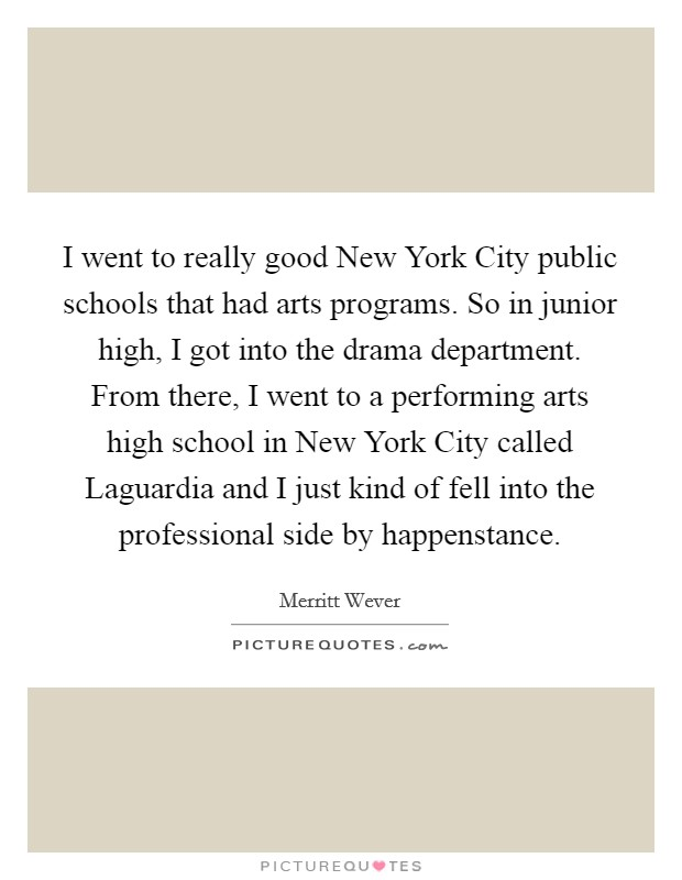 I Went To Really Good New York City Public Schools That