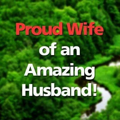Proud wife of an amazing husband | Picture Quotes