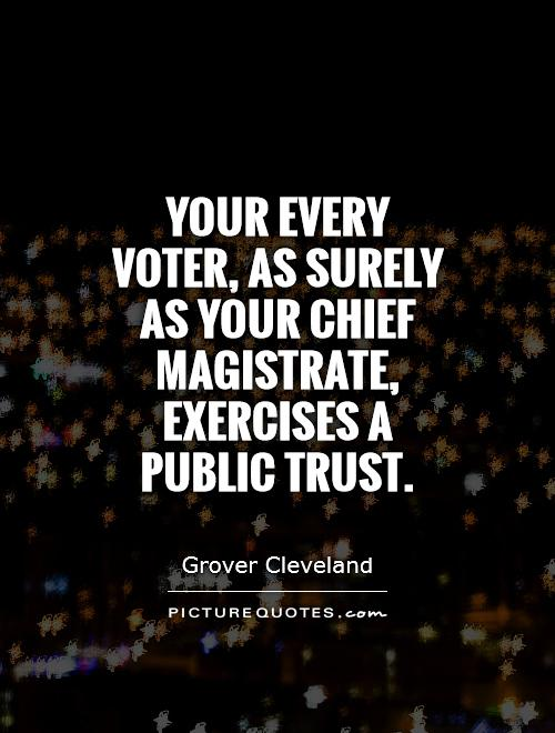 Your every voter, as surely as your chief magistrate, exercises a public trust Picture Quote #1
