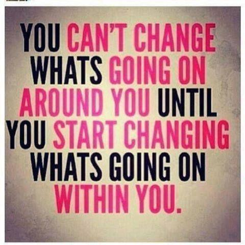 You can't change what's going on around you until you start changing what's going on within you Picture Quote #1