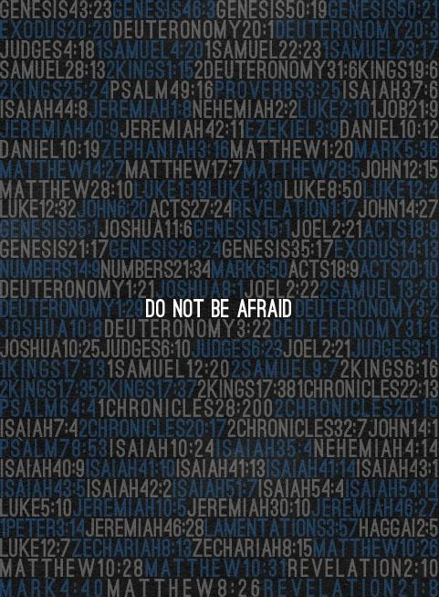 Do not be afraid Picture Quote #1