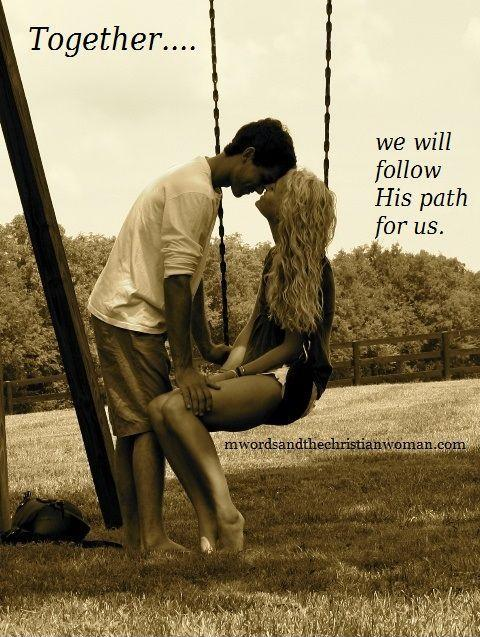 Together we will follow his path for us Picture Quote #1