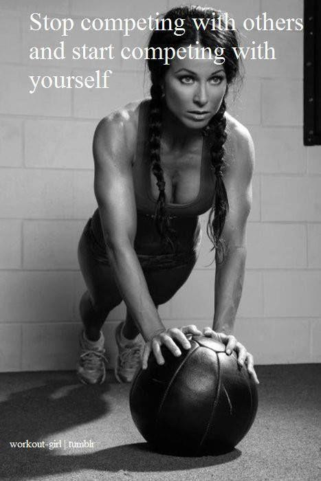Stop competing with others and start competing with yourself Picture Quote #1