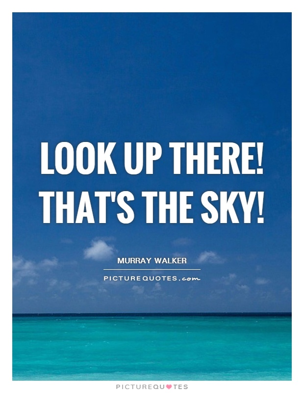 Look up there! That's the sky! Picture Quote #1