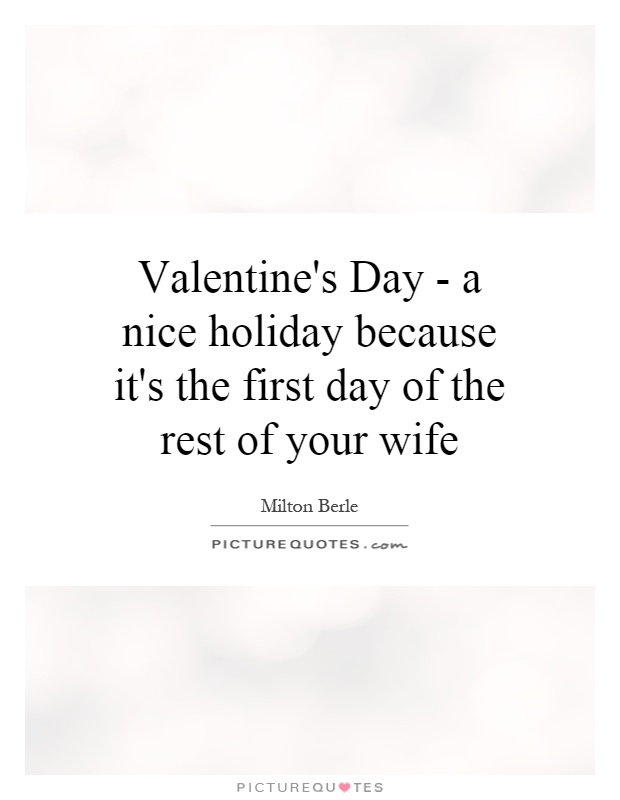 A Nice Holiday Because It's The First