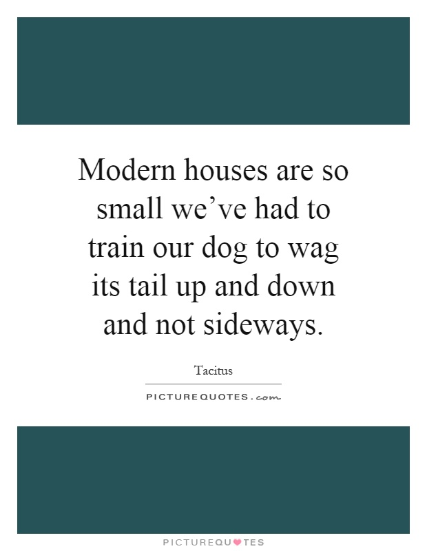 Modern houses are so small we ve had to train our dog to for Modern house quotes