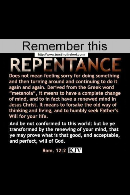 Biblical Repentance Quote 1 Picture Quote #1