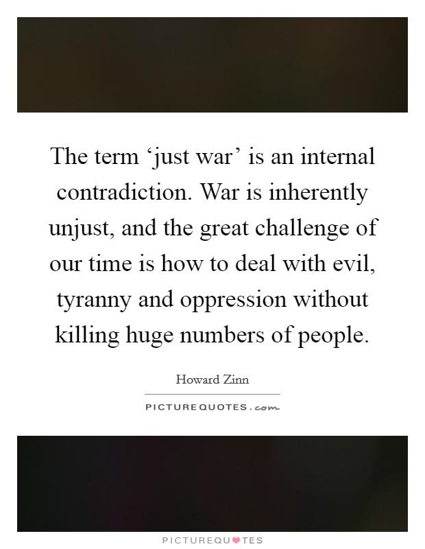 What is an Unjust War?
