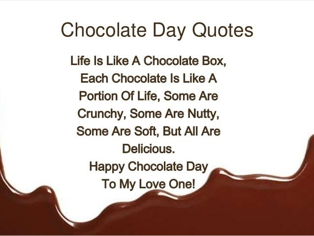 Happy Chocolate Day Quote 3 Picture Quote #1