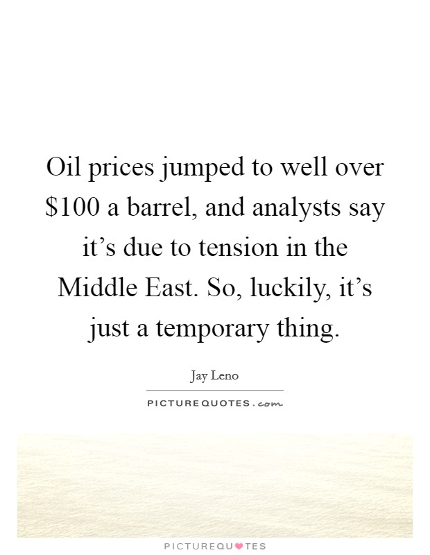 Prhsx Quote Brilliant Oil Price Quote Awesome Oil Prices Have Certainly Become A Threat