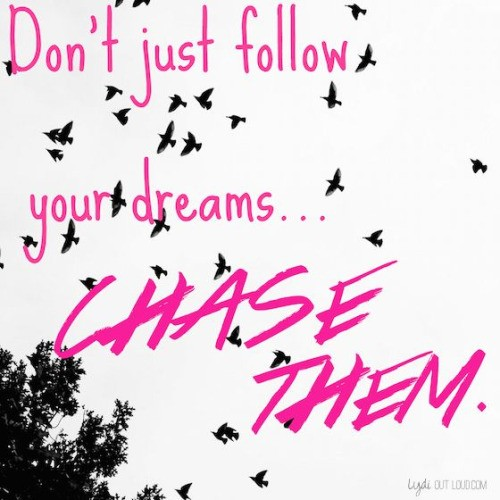 Chasing Dreams Quote 4 Picture Quote #1