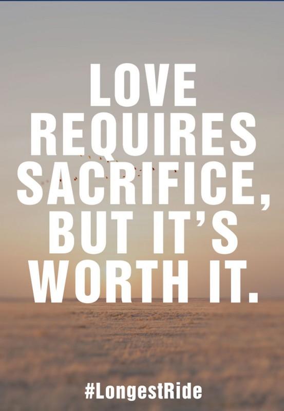 Love Sacrifice Quote 1 Picture Quote #1
