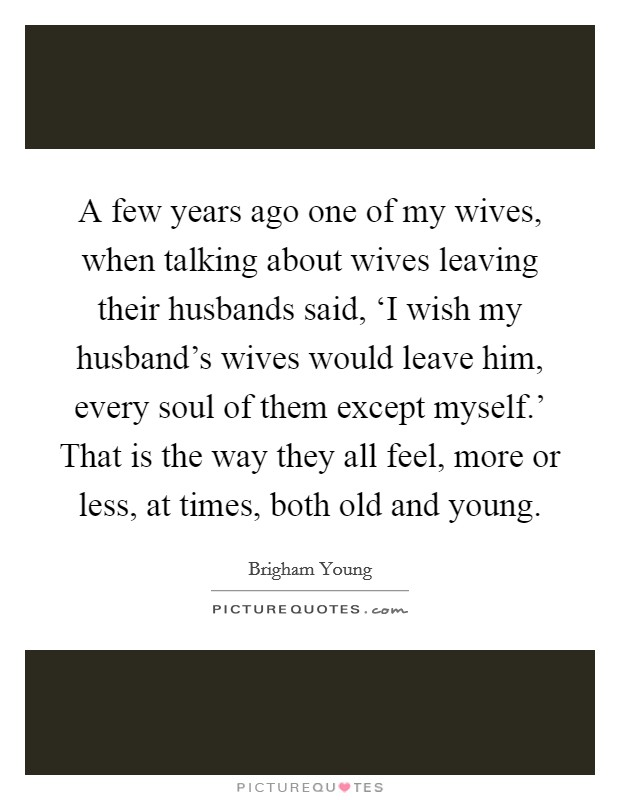 When husbands leave their wives